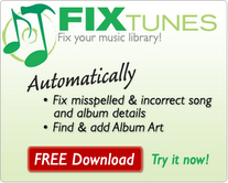 Automatically fill misspelled and incorrect album details and artwork in iTunes using FixTunes