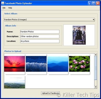 Facebook Photo Uploader for Desktop