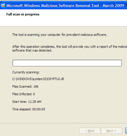 Microsoft's Conficker Removal Tool