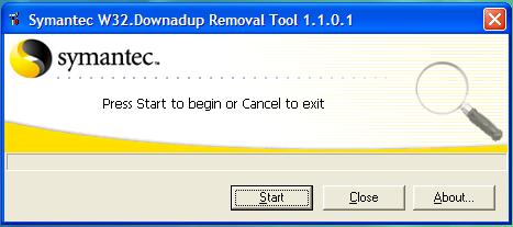 Symantec's Remove Conficker Tool