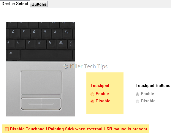 disable-dell-touchpad