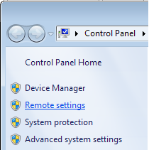 Turning on Remote Desktop Windows 7