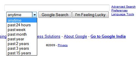 Google Search Date Operators