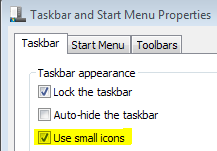 Reduce the size of Windows 7 Taskbar or make it smaller