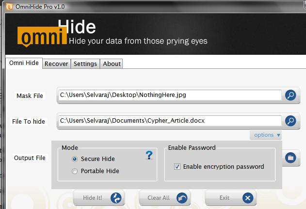 Hide files in Windows