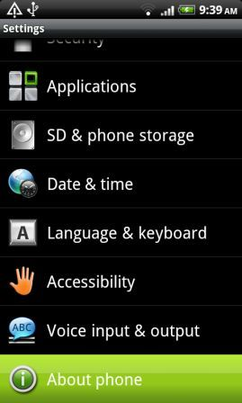 Android Firmware Version