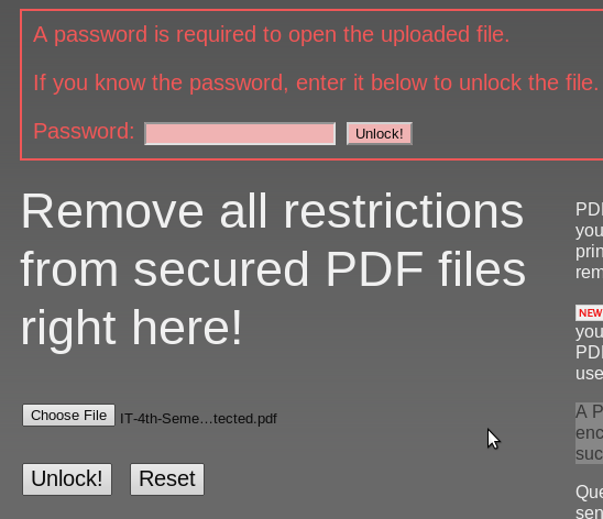 PDF Unlocking Reader Replacement