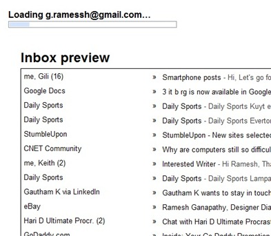 Inbox Preview