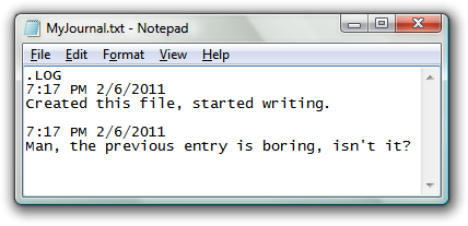 Notepad-uses