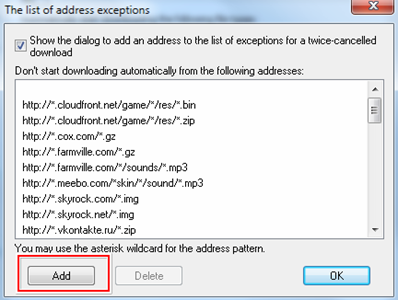 Address exceptions