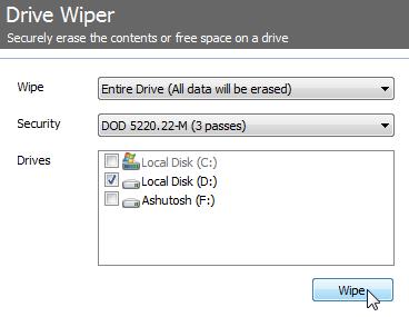 ccleaner drive wiper
