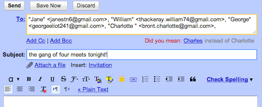 This bob, that bob in Gmail