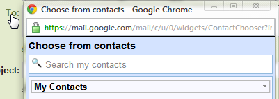 Clickable to button in Gmail compose