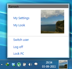 My Settings page