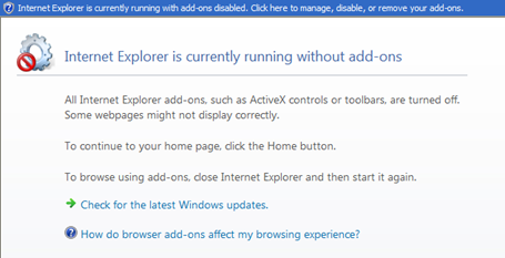 Internet Explorer Without Addons